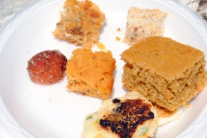 Plate of Cornbread Samples