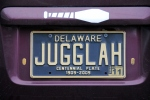 Jugglah license plate