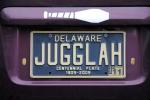 Jugglah license plate