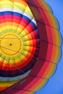 Interior of Hot Air Balloon from the Air
