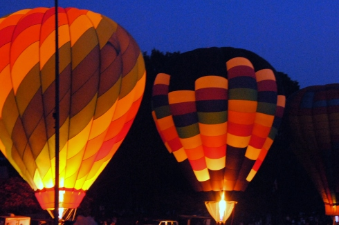 Night Glow of Hot Air Balloon