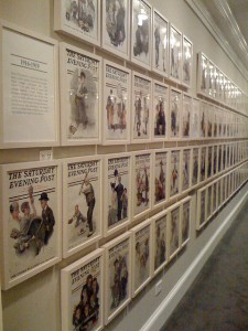 Wall of Saturday Evening Post Covers