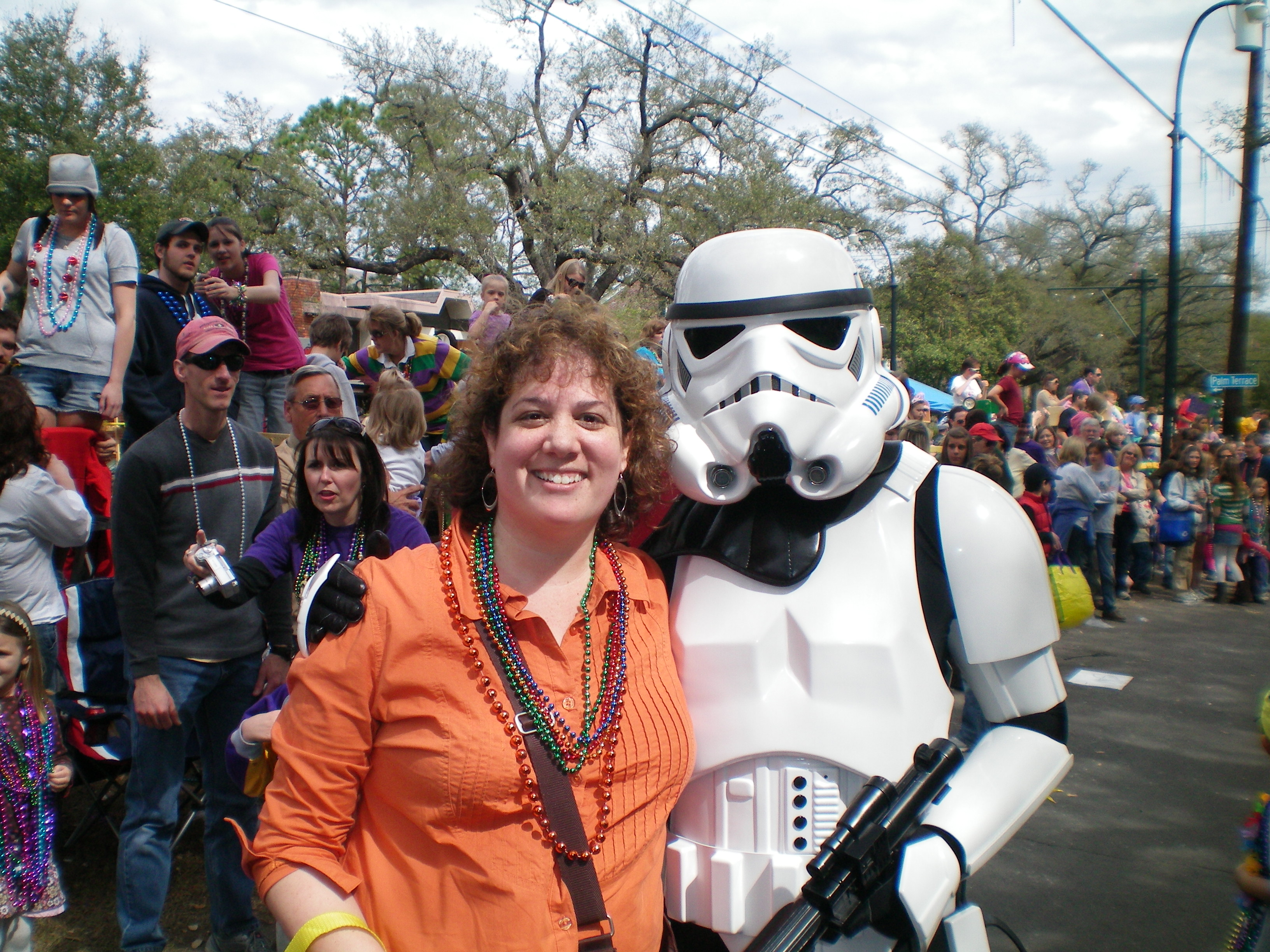 Storm Trooper at Mardi Gras Parade