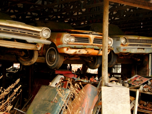 Old Car City, White GA, rusted cars, junkyard