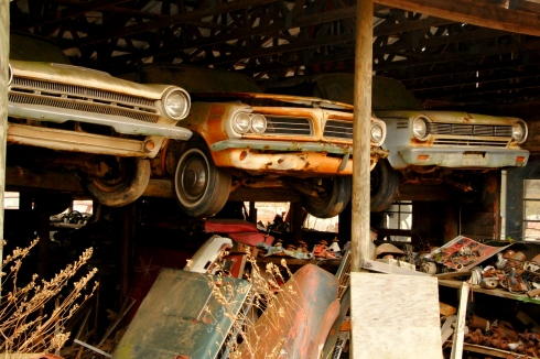 Old Car City, White GA, rusted cars, junkyard