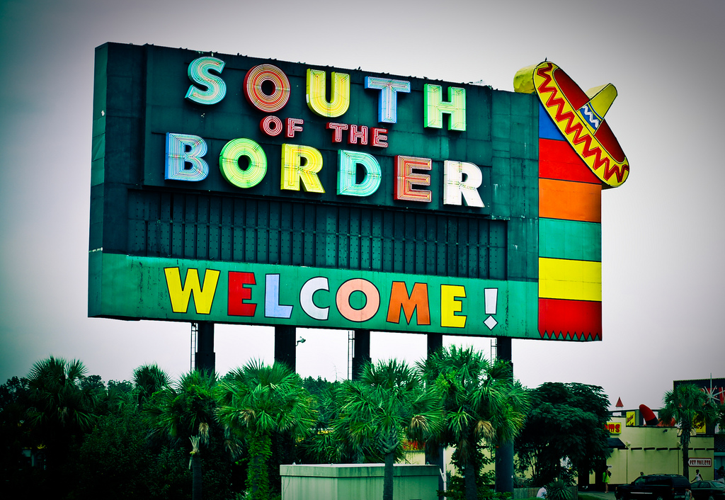 South of the Border Welcome sign, South Carolina