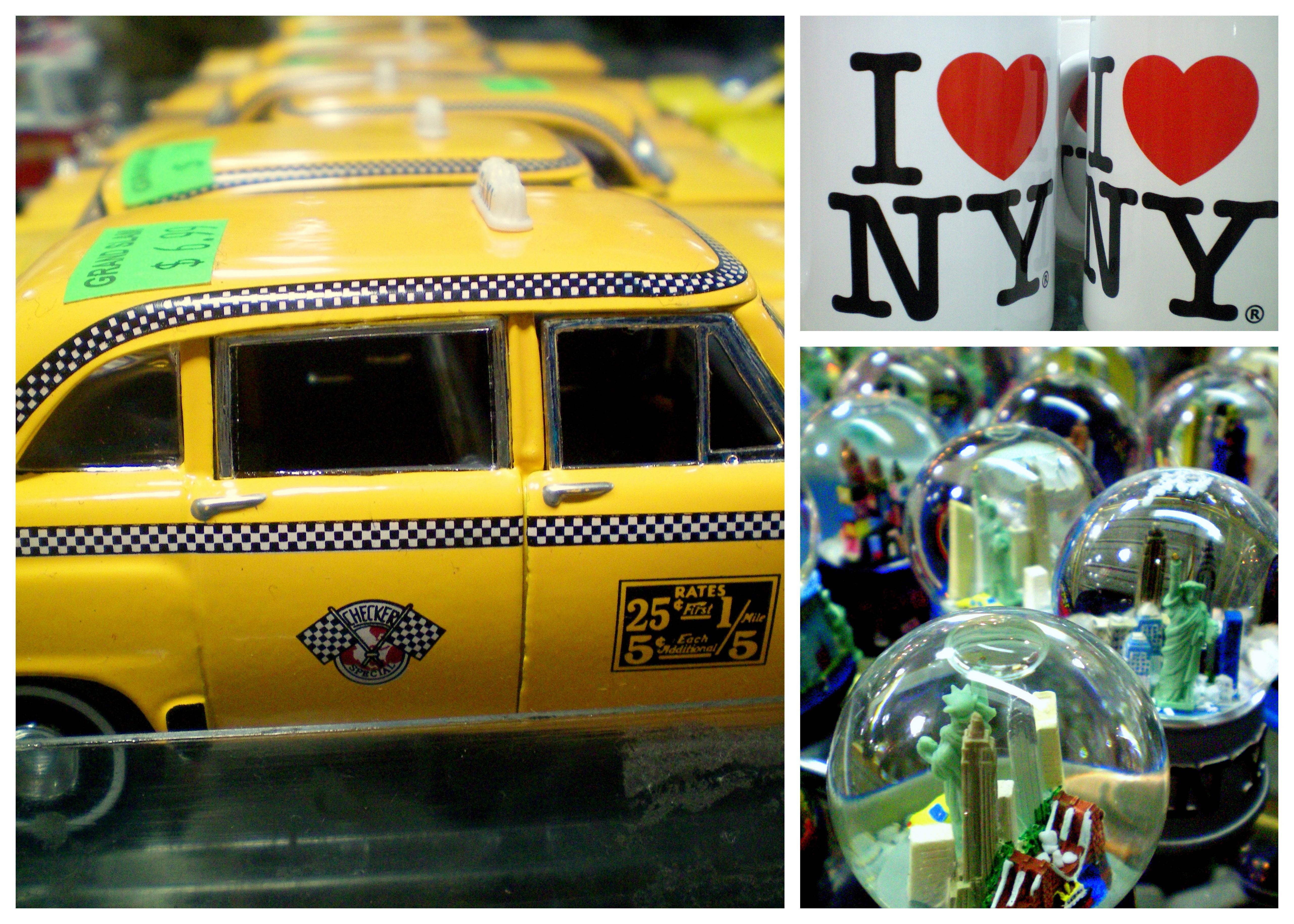 New York City, NY, NYC, I love NY, mug, souvenir, taxi, cab, statue of liberty, snow globe