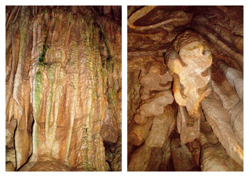 Ribbons and Broken Stalagmites at Linville Caverns