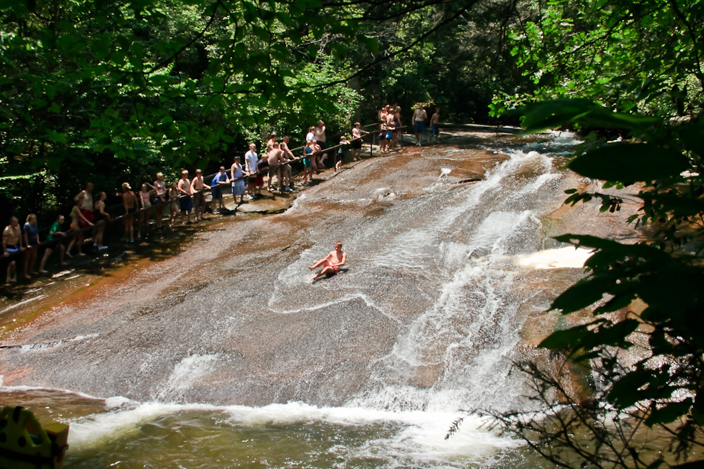 Sliding Rock in Brevard, NC